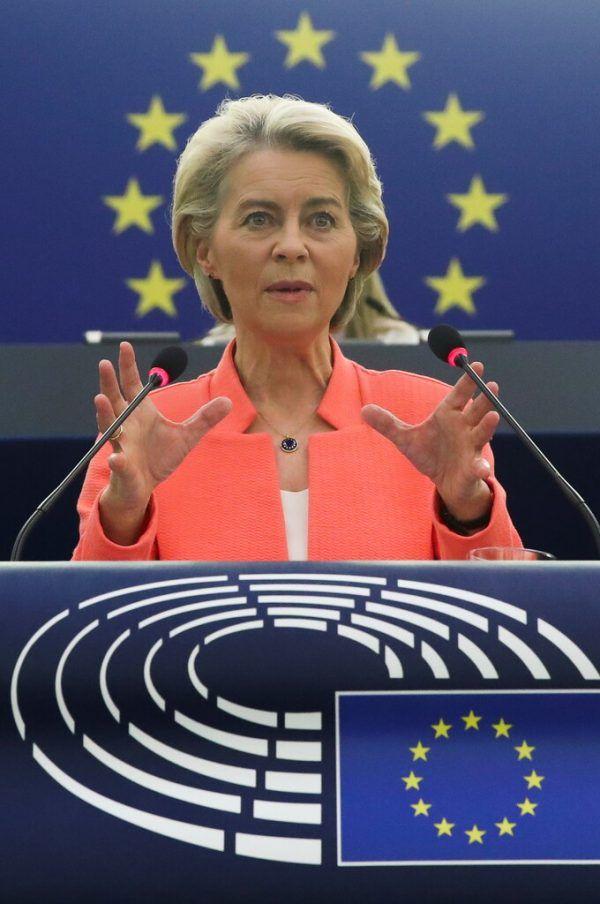 Kommissionspräsidentin Ursula von der Leyen hielt die Rede zur Lage der Union.Reuters