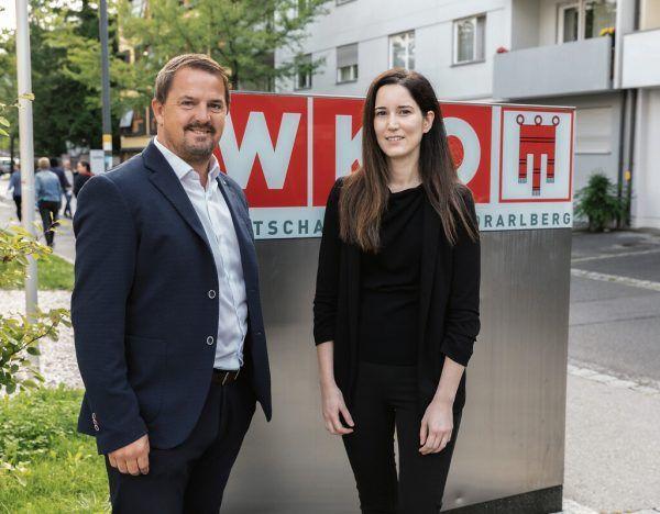 ÖGK-Vorsitzender Jürgen Kessler und Anna Hilti.WKV/Daniel Mauche
