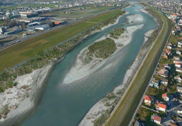 So soll der Rhein nach der Neugestaltung bei Lustenau aussehen.IRR/Hydra
