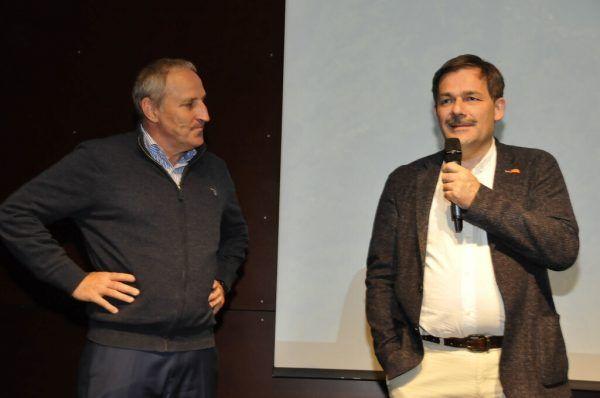 Viehböck und Marketing-Club-Präsident Karlheinz Kindler.