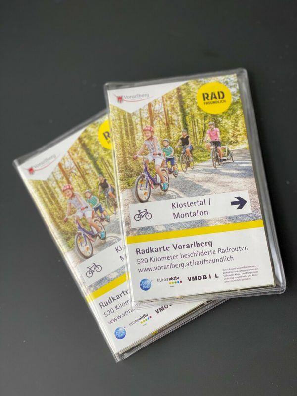 Die Radkarte ist kostenlos erhältlich. Schwerzler-Nigg