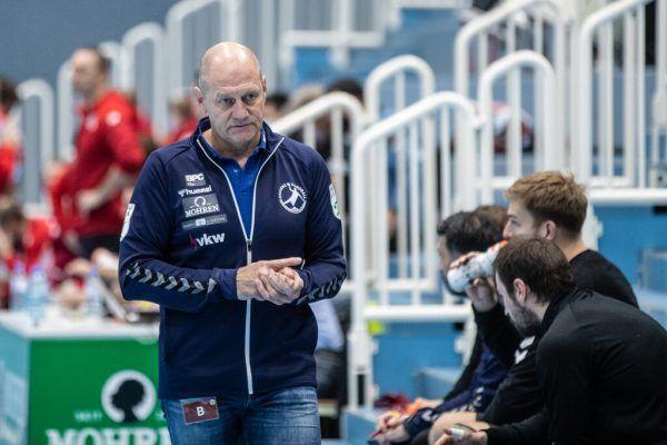 Markus Burger empfängt mit Bregenz HB heute die BT Füchse mit seinem Sohn Sebastian.sams