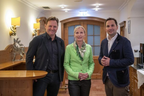 Patrick Ortlieb, Roswitha Stadlober und Christian Scherer (v.l.).apa