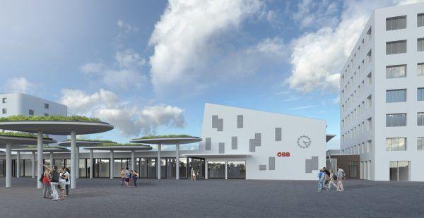 So soll es am Feldkircher Bahnhof nach der Modernisierung aussehen, auf dem kleinen Bild der Warteraum. ÖBB/ Schafferer architektur + projektmanagement zt-gmbh